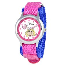 Kid's Muppets Time Teacher Velcro Watch in Pink