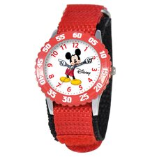Kid's Mickey Time Teacher Watch in Red