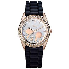 "<strong>Disney</strong> Womens Mickey Mouse ""Crystal Glitter"" Watch"