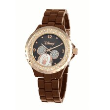 "Womens Mickey Mouse ""Enamel Sparkle"" Bracelet Watch"