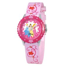 <strong>Disney</strong> Girl's Princess Time Teacher Watch
