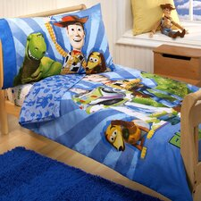 Woody and the Gang Toy Story 4 Piece Toddler Bedding Set