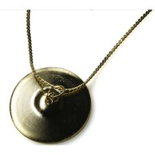 Cymbal Necklace in Gold