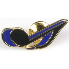 Eighth Note Pin in Gold and Blue