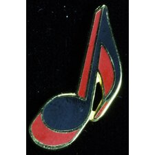 Eighth Note Pin in Gold and Red