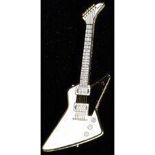 Gibson Explorer Pin in Gold and White