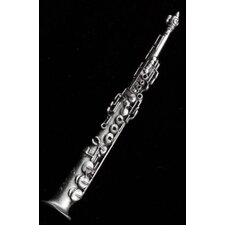Soprano Sax Pin in Pewter