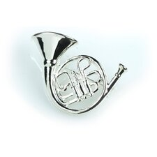 French Horn Stick Pin in Silver