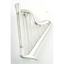 Harp Stick Pin in Matte Silver