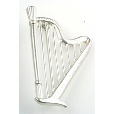 Harp Stick Pin in Matte Silver