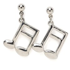 16th Note Earrings in Silver