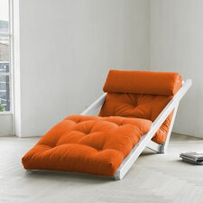 Fresh Futon Figo with White Frame in Orange