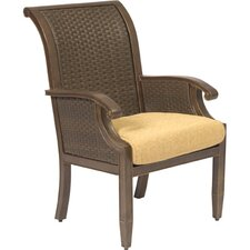 <strong>Woodard</strong> Del Cristo Dining Arm Chair with Cushion