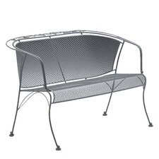 <strong>Woodard</strong> Briarwood Barrel Wrought Iron Garden Bench