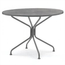 <strong>Woodard</strong> Premium Mesh Top Round Umbrella Dining Table