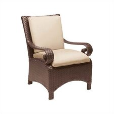 <strong>Woodard</strong> Carlton Wicker Dining Arm Chair with Cushion