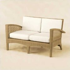 <strong>Woodard</strong> Trinidad Wicker Loveseat with Cushions