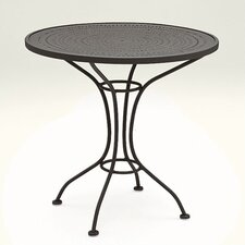 "<strong>Woodard</strong> Parisienne 30"" Round Bistro Table with Pattern Metal Top"