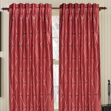 Diamond Impulse Silk Rod Pocket Drape Single Panel