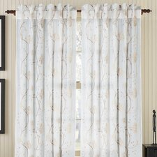 <strong>Gracious Living</strong> Regal Cotton Organdy Rod Pocket Drape Single Panel