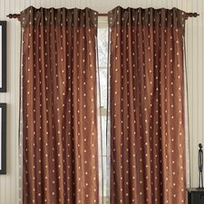 <strong>Gracious Living</strong> Hayworth Silk Rod Pocket Drape Single Panel