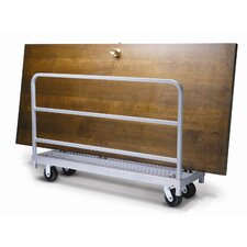 Narrow Tall End Truck and Phenolic Casters Table Dolly