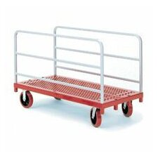 Heavy Duty Panel / Sheet Mover Quiet Poly Casters, All Swivel, 2 Uprights