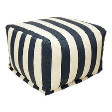 Striped Bean Bag Ottoman