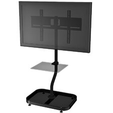 "Adjustable Ergonomic Tilt Universal Floor Stand Mount for 32"" - 46"" Flat Panel Screens"