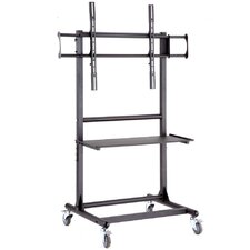 "Adjustable Ergonomic Mobile TV Cart for 56"" - 70"""