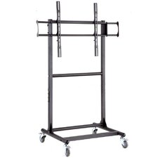 "Adjustable Ergonomic Mobile TV Cart for 56"" - 70"" Screen"