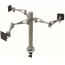 3 Screen Dual Arm Monitor Desk Mount