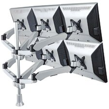 6 Screen Spring Arm Monitor Desk Mount