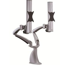 Height Adjustable 2 Screen Monitor Desk Mount