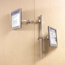 <strong>Cotytech</strong> Wall Mount for Two Monitors Long Pole Double Arm