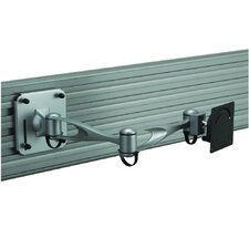 LCD Monitor Double Arm Slatwall Mount