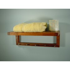 "<strong>Aqua Teak</strong> Spa Teak 24"" x 9"" Bathroom Shelf"