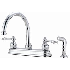 Saratoga Double Handle Kitchen Faucet with Sprayer