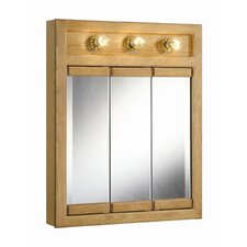 "Richland 24"" x 30"" 3-Light Tri-View Wall Cabinet"