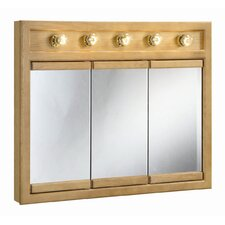 "Richland 36"" x 30"" 5-Light Tri-View Wall Cabinet"