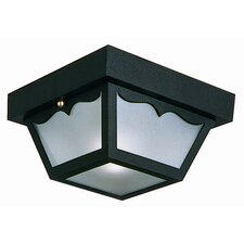 2 Light Outdoor Flush Mount