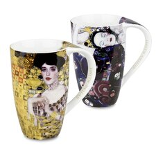 Gustav Klimt 14 oz. Adele Bloch Bauer and Jungfrau Mug (Set of 2)