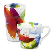 "2 Piece ""On Color!"" Double Walled Grip Mug Set"