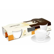 Coffee Bar 7 oz. Cup and Saucer (Set of 4)