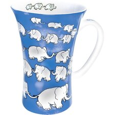 Animals Chain of Elephants Mega Mug (Set of 4)