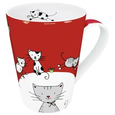 Animals Globetrotter Cat Mug (Set of 4)