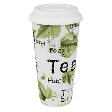Large Travel Tea Collage Mug (Set of 4)