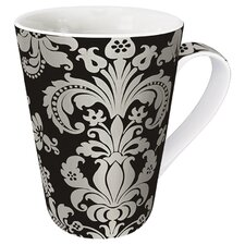 Gift for All Occassions Rocaille Mug in Grey and Silver (Set of 4)
