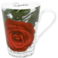 Gift for All Occassions Roseletter Mug in Red (Set of 4)