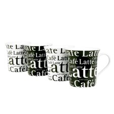 Assorted Caffelatte Writing 12 oz. Mug (Set of 4)